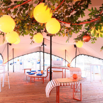 Transforming outdoor spaces with stretch tents